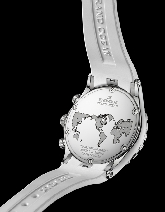 Edox Grand Ocean Chronolady Introduced at Baselworld 2012 - 10410 3 AIN Back View